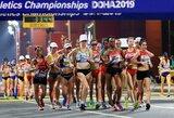 Ž.Vaiciukevičiūtė užbaigė 20 km distanciją, pasaulio čempionės titulą gynusi kinė diskvalifikuota likus 1 km