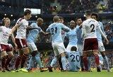 """""""Manchester City"""" ir toliau tolsta nuo konkurentų, """"Manchester United"""" patyrė pirmą pralaimėjimą"""