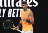 """Fantastiškai žaidęs R.Nadalis """"Australian Open"""" pusfinalyje triuškino 20-metį talentą"""