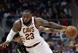 """L.Jamesas atvedė išretėjusią """"Cavaliers"""" komandą į pergalę"""