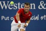 """Istorinė pergalė: pergalę iškovojęs R.Berankis –pirmą kartą """"US Open"""" trečiame rate"""