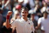 Trečiajame sete vos neprisižaidęs R.Federeris įveikė Lietuvoje žaidusį Norvegijos teniso talentą