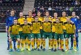 Salės futbolas: Lietuvos rinktinė sužaidė lygiosiomis su estais