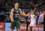 """Tarp naudingiausių Eurolygos turo žaidėjų – du lietuviai ir """"Žalgirio"""" komandos varžovas"""