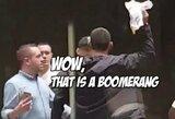 Pamatykite: prieš UFC turnyrą F.Werdumas į kitą kovotoją sviedė bumerangą