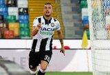 """Per pridėtą laiką įvartį praleidęs """"Juventus"""" krito prieš """"Udinese"""" ir neužsitikrino čempionų titulo"""
