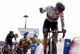 """Didvyriškai finišavęs T.Dumoulinas – naujasis """"Vuelta a Espana"""" lenktynių lyderis"""