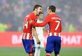 """Pergalę iškovoję """"Atletico"""" ir toliau saugo antrą vietą Ispanijoje"""