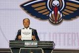 """NBA pirmasis šaukimas atiteko """"Pelicans"""", antra rinksis J.Valančiūno komanda"""