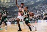 """23 taškų persvarą išbarstęs """"Panathinaikos"""" atsilaikė prieš Vitorijos klubą"""