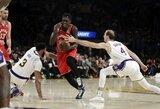 """NBA čempionai nutraukė """"Lakers"""" pergalių seriją"""