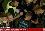 Skandalas JAV futbolo lygoje: komanda atsisakė tęsti rungtynes po jų homoseksualaus futbolininko įžeidimo