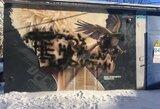 """Rusijoje subjaurotas Ch.Nurmagomedovui skirtas piešinys: """"Jis ne mūsų herojus"""""""