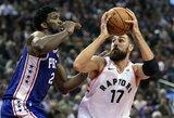 J.Valančiūnas per 17 minučių pagerino sezono taškų rekordą ir sugėrė NBA žvaigždės alkūnę
