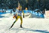Biatlonininkė G.Leščinskaitė iškovojo pirmuosius IBU taurės taškus