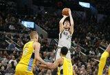 """Rekordą pagerinęs latvis svariai prisidėjo prie """"Spurs"""" pergalės"""