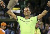 R.Nadalis Majamyje žengė į pusfinalį, antroji turnyro raketė baigė savo pasirodymą