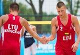 A.Vincelovičius ir E.Vaškelis – Europos jaunimo čempionato aštuntfinalyje