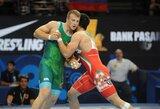 Europos imtynių čempionate E.Stankevičius įveikė Austrijos sportininką ir serbą bei kovos dėl bronzos, J.Petravičius pateko į paguodos turnyrą