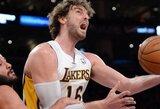 """""""Lakers"""" privertė Sakramento klubą pralaimėti šeštą kartą iš eilės"""