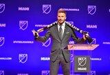 """Futbolo klubą Majamyje įkūręs D.Beckhamas: """"Čia priviliosime aukščiausios klasės Europos žvaigždes"""""""