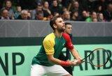 Dvejetų mačą pralaimėjusi Lietuvos vyrų teniso rinktinė nebeturi kur trauktis