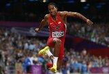 Londono olimpinių žaidynių trišuolio rungtyje – amerikiečių triumfas