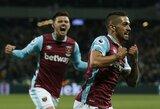 """""""West Ham"""" tik rungtynių pabaigoje palaužė naujokus"""