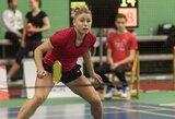 Baltarusijoje sėkmingai žaidusius Lietuvos badmintonininkus sustabdė trauma
