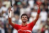 """N.Djokovičius ir A.Zverevas užtikrintai žengė į trečiąjį """"Roland Garros"""" ratą"""