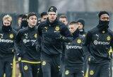"""""""Borussia"""" treneris neketina skubėti dėl E.B.Haalando: """"Turime būti atsargūs"""""""