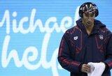 """M.Phelpsas nusprendė nebetylėti: """"J.Jefimova mane siutina"""""""