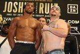 A.Ruizas tapo sunkiausiu kada nors A.Joshua sutiktu varžovu, britas su publika išsirinko išėjimo į ringą dainą