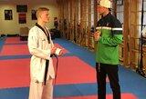 """Vienas stipriausių pasaulio taekwondo kovotojų A.Klemas: """"Tai labai dinamiškas sportas ir tuo jis man patinka"""""""