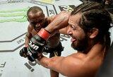 Prie narvo krašto J.Masvidalį spaudęs K.Usmanas dominavo ir apgynė UFC čempiono diržą