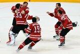 Be pralaimėjimų žengusią Suomiją įveikę kanadiečiai - pasaulio čempionai!