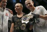 MMA pasaulis šokiruotas: pirmajame raunde lenkę nokautavusi R.Namajunas – UFC pasaulio čempionė!