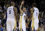 """Eilinį beprotišką metimą pataikęs S.Curry su """"Warriors"""" pratęsė pergalių seriją"""