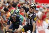 """""""Vuelta a Espana"""" etapą prieš poilsio dieną sensacingai laimėjo Italijos sprinteris"""