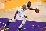 """""""Lakers"""" sutriuškino """"Warriors"""" ir gavo progą patausoti L.Jamesą"""