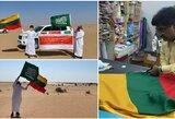 Tiltus tarp šalių tiesianti draugystė: Saudo Arabijos dykumoje – Lietuvos vėliava