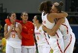 Neįtikėtina mačo pabaiga moterų turnyre: ispanės paskutinę akimirką palaužė turkes