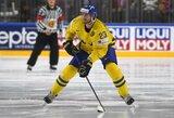 Euroturas: rusai vėl pralaimėjo, švedus į pergalę vedė NHL žaidėjai