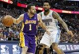 """""""Lakers"""" mažiausiai dviems savaitėms neteko J.Farmaro"""