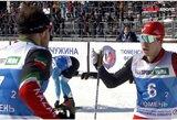 Rusijos slidinėjimo čempionate diskvalifikuotos dvi komandos: po finišo sportininkai įsivėlė į konfliktą
