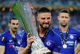 """Prieš """"Arsenal"""" pelnyto įvarčio nešventęs O.Giroud: """"Didžiuojuosi laimėjęs šį trofėjų su """"Chelsea"""""""