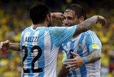 Argentina svečiuose nukovė Kolumbijos rinktinę