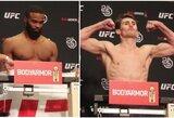 UFC pasaulio čempionė prieš svėrimus išgabenta į ligoninę, T.Woodley teko išsirengti nuogai, D.Tillas rodė nepadorius gestus