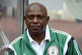 Liūdna žinia futbolo pasaulyje: mirė buvęs Nigerijos rinktinės treneris