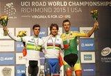 Pasaulio plento dviračių čempionato šalių klasifikacijoje Lietuva pasidalijo 14-ą vietą